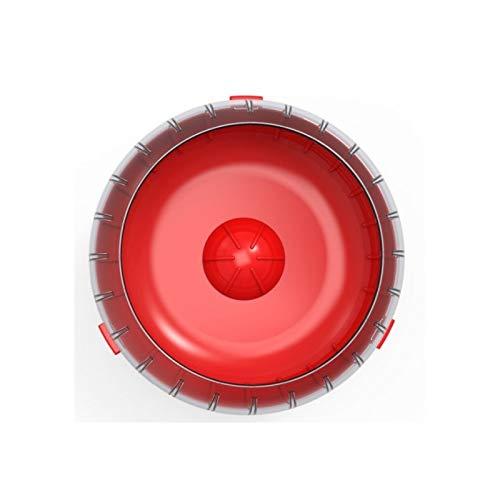 Rody3 Rueda de Ejercicio silenciosa para pequeños roedores como hámsters, jerbes, Conejos, para Todas Las jaulas, Color Rojo Granada
