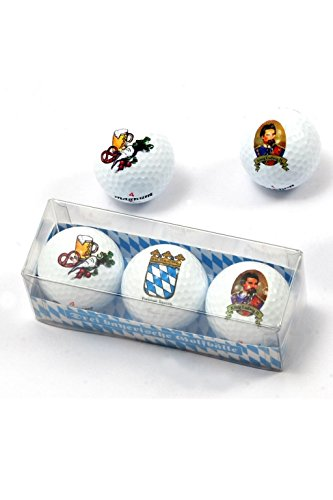 Golfballtube Motiv Bayern, Golfballtube mit 3
