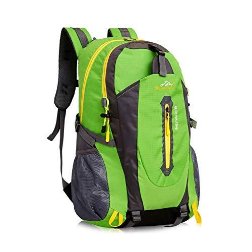 yunplus Mochila de senderismo, ligera, multifuncional, informal, resistente al agua, 40 L, camping, senderismo, mochila para ciclismo, viaje, escalada, deportes al aire libre, hombre, verde