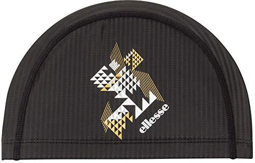 エレッセ(ellesse) スイムキャップ 水泳 スイムキャップ サンライト シリコンコーティング ブラック×シルバー ESC0952