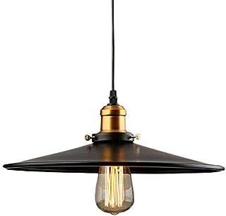 Industriel Edison E27 Suspension Luminaire de Plafond Abat-jour en Métal, Rétro Plafonniers Lustre Décoration pour Cuisin...
