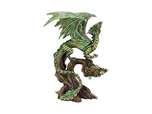 Nemesis Now Forest Anne Stokes 25.5cm Figurine Figura de dragón Forestal para Adultos (25,5 cm), Resina, Verde, Talla única