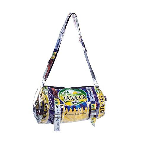 Shakti Milan Yoga Sporttasche Janata Bhog | Upcycled Tasche recycled Reissack Schultertasche Schultasche...