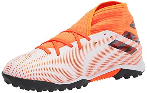 adidas Men's Nemeziz .3 Turf Soccer Shoe, White/Black/Screaming Orange, 11.5
