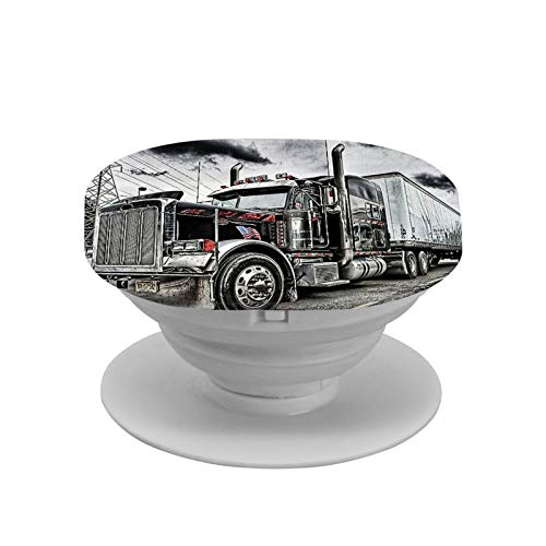 Peterbilt Cell Phone Foldable Expanding Stand Holder Phone Round Stand and Grip Folding Pop Up Back Stand Universal Phone Mount,Collapsible Grip & Stand for Phones and Tablets
