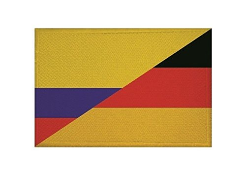 U24 Aufnäher Kolumbien-Deutschland Fahne Flagge Aufbügler Patch 9 x 6 cm