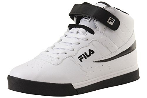 Fila Men's Vulc 13 Mid Plus Fashion Sneakers, White, Microsuede, Rubber, 8.5 M