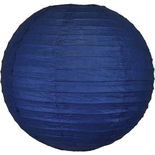 "Just Artifacts 8"" Navy Blue Chinese/Japanese Paper Lantern/Lamp 8"" Diameter - Just Artifacts Brand"