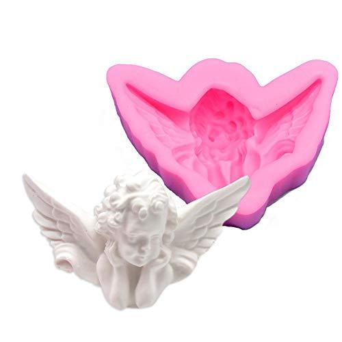 Gloednieuwe DIY Trendy 3D silicone engel-siliconenvorm voor bakken en knutselen, minibloem, voor suikergiet- / cakedecoratie, giethars, bloesempasta, fondant. rechts