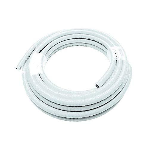 Eau en acier inoxydable tuyau flexible uniroll 20 mt Rouleau. 2,5 cm pour l'eau blanc recouvert