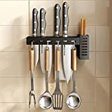 Portacuchillos De Acero Inoxidable, Jaula Para Palillos, Portacuchillos Integrado Montado En La Pared, Almacenamiento Cuchillos Cocina De (B)