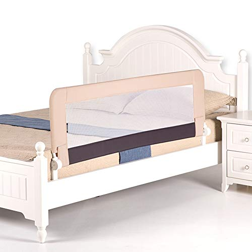 Garde-corps enfant Chunlan Barrière Universelle de lit de Balustrade de barrière de lit de Balustrade de lit d'enfant de lit d'enfant (Couleur : Kaki, Taille : 180 * 58cm)