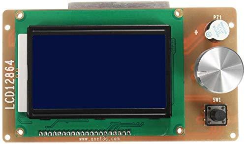 MUKUAI20 3D Printer Parts 3D Printer Controller Adapter Adjustable 12864 Display LCD for RAMPS 1.4 Reprap DIY