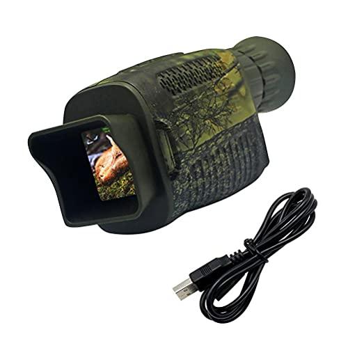 Enkomy Dispositivo De Visión Nocturna con Pantalla De 1.5 Pulgadas Sensor IR,Dispositivo De Visión Nocturna Multifunción De 12mp,Telescopio Monocular De Bolsillo HD, Al Aire Libre,Observación De Aves