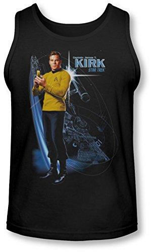 Star Trek - - Galactic Kirk Tank-Top pour hommes, Medium, Black