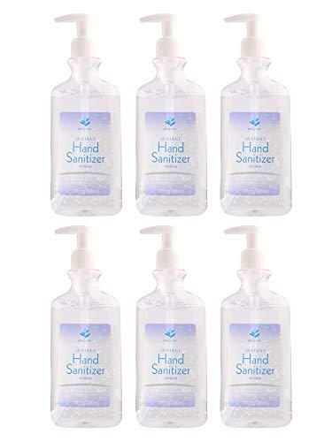 Pump Hand Sanitizer Gel | 75% USP-Grade A Ethyl Alcohol | Aloe Vera Hand Sanitizer Pump Bottle Dispenser 10 oz (6 pack) | Quick Drying & Non-Sticky | Advanced Anti Bacterial Hand Sanitizer