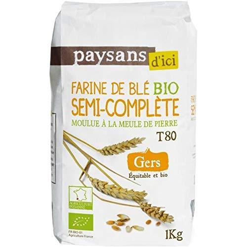 Farine de blé semi complète T80 bio & équitable