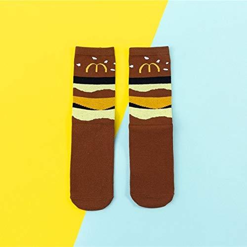 Heißer lustiger Socken Damen lässig Cartoon Obst Banane Avocado Zitrone Ei Keks Donut glücklich Skateboard Socken - 2