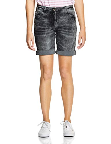 CECIL Damen 372191 Scarlett Shorts Shorts per pack Grau (grey used wash 10189), W33(Herstellergröße:33)