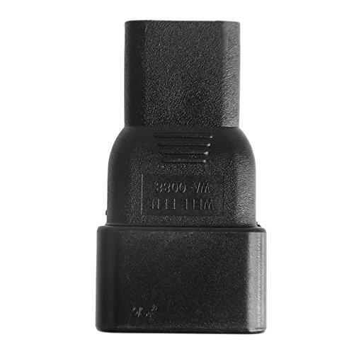 Buwei IEC 320 3-Pin C13 Hembra a C20 Convertidor de Adaptador de Enchufe Macho para Fuente de alimentación de CA