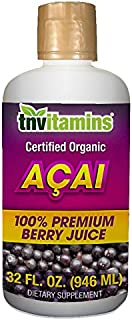 Acai Berry Juice | 100% Certified Organic by TNVitamins| 32 oz