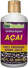 Acai Berry Juice | 100% Certified Organic by TNVitamins| 32 oz