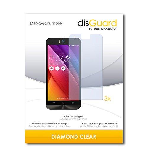disGuard 3 x Schutzfolie Asus ZenFone Selfie Bildschirmschutz Folie DiamondClear unsichtbar