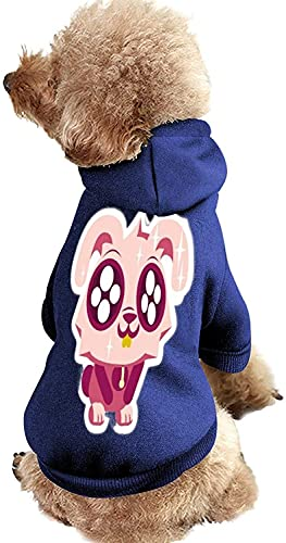 Lindo traje de mascota con sombreros  Abrigo suave clido para el invierno con sombrero estilo azul 1-mediano, cmodo de moda para cachorros medianos y grandes perros y gatos clido disfraz