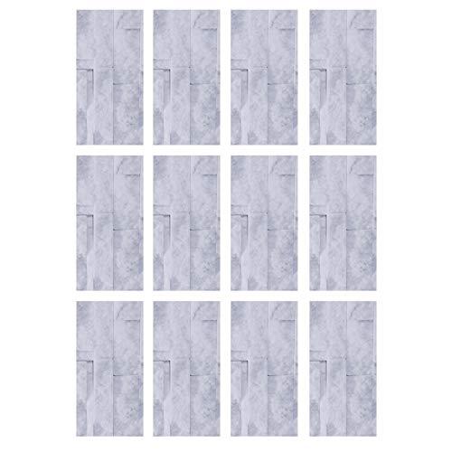 Gmkjh Etiqueta engomada del Piso, 12Pcs Etiqueta engomada de los Azulejos Impermeable PVC Autoadhesivo Etiqueta de la Pared del Piso Calcomanía Accesorios de Cocina(KIT039)