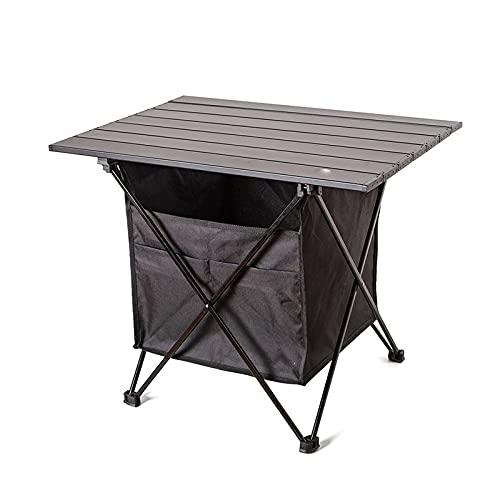 AKPO Mesa para Acampar al Aire Libre, portátil, Plegable, Ultraligera, de Aluminio, Senderismo, Escalada, Picnic, mesas Plegables, Equipo para Exteriores B-Large