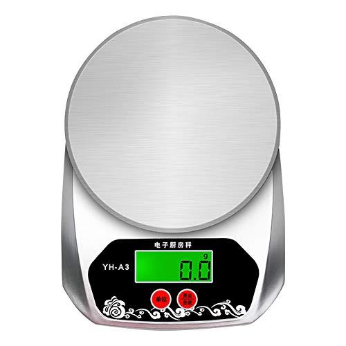 Huyp Digitale keukenweegschaal, hoge precisie, multifunctioneel, vlees, meetschaal van roestvrij staal