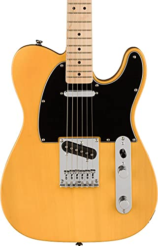 Fender 6 String Solid-Body Electric Guitar, Right, Butterscotch Blonde (0378203550)