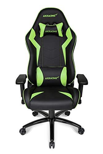 AKRACING Core SX Gaming Stuhl mit 5 Jahren Herstellergarantie für PC/PS4/XBOX/Nintendo, Schreibtischstuhl mit Kissen, PU-Kunstleder - Schwarz/Grün