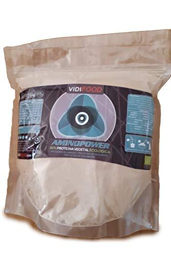 Proteína Aminopower ECO en Polvo | 1kg | Mix Proteínas de Arroz, Guisante y Calabaza | Aumento Masa Muscular y Energía | 80% Proteína y Aminoácidos | Apto para Veganos | Sabor Neutro