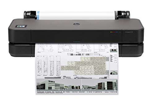 HP DesignJet T210 Large Format Compact Wireless Plotter Printer - 24', with Modern Office Design (8AG32A)