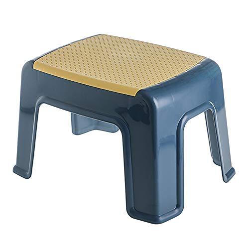 Omenluck 1 Stück Tritthocker Kunststoff Hocker Haushaltswaren kleiner Fußhocker Schuhbank für Erwachsene und Kinder