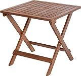 Gartentisch Campingtisch Beistelltisch Balkontisch Akazienholz Faltbar 45x45x45cm V330