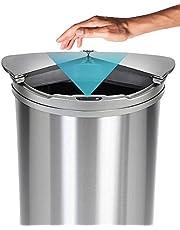 JOBSON(ジョブソン) 自動ゴミ箱 【 賢いゴミ箱™ 】 47L ( 45リットル 対応) 自動開閉ゴミ箱 ゴミ箱 センサー 自動 横スライド スリム ダストボックス おしゃれ 自動 開閉 ふた付き 消臭 シルバー JB03 [ メーカー2年保証 ]