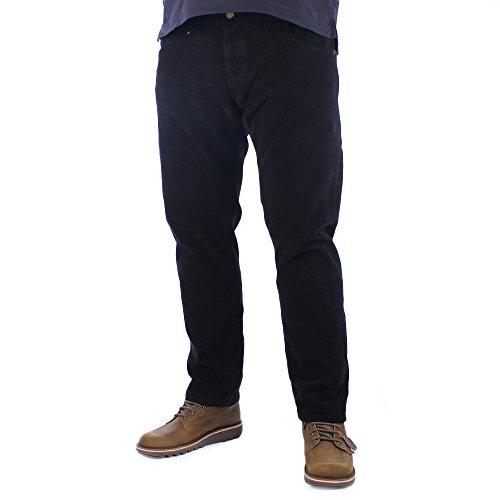 Lois Mens Sierra zwarte naald Corduroy broek W36 L30