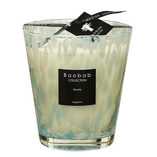 Baobab Max 16 Pearls Sapphire Kerze, Kerzenwachs, 16cm, 16x10x16 cm
