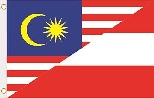 U24 vlag vlag Maleisië Oostenrijk 90 x 150 cm