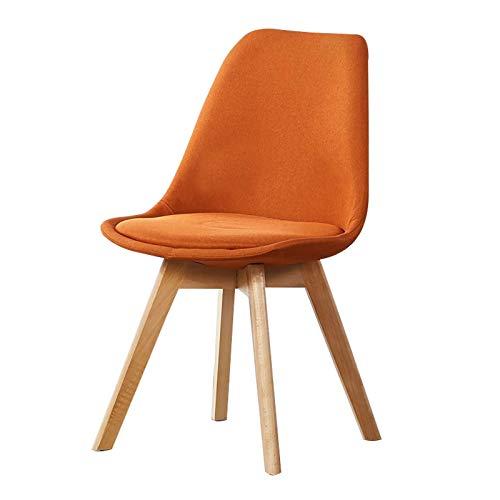 ADGEAAB Sillas de comedor de diseño moderno, silla de comedor, silla de comedor, silla de dormitorio, silla de ordenador, escritorio, silla de oficina (color: naranja y rojo)