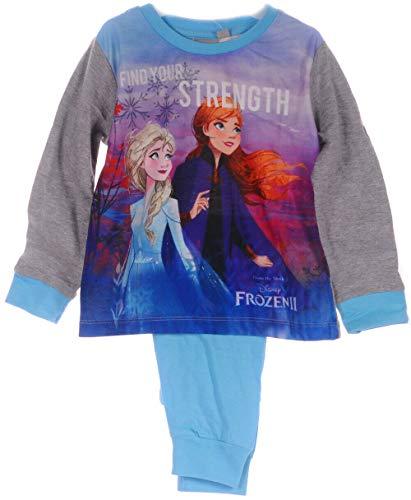 Eiskönigin Pyjama Set Kinder Schlafanzug Anna ELSA Frozen 2 110 116 122 128 140 (134-140)