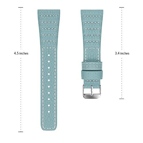Tencloud Armband kompatibel mit Samsung Galaxy Watch 3 41 mm Armband, schlankes Lederband, Ersatzarmband für Galaxy Watch 3 41 mm/Galaxy Watch 42 mm/Galaxy Watch Active/Active 2 Smartwatch (blau)