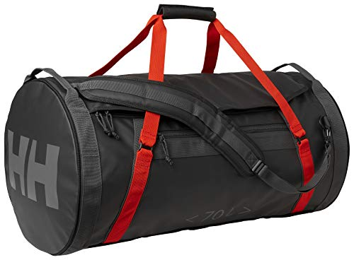 Helly Hansen Hh Duffel Bag 2 70l, Borsa Sportiva Unisex Adulto, Ebony / Cherry Tomato, 70L
