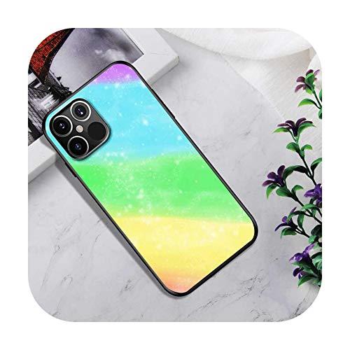 Phone Case Silikon-Schutzhülle für iPhone 12 Mini 11 Pro SE 2020 X XS Max XR 7 8 6 6S Plus, Coque Capa Cute Rainbow Fundas-B08-für iPhone 12Pro Max