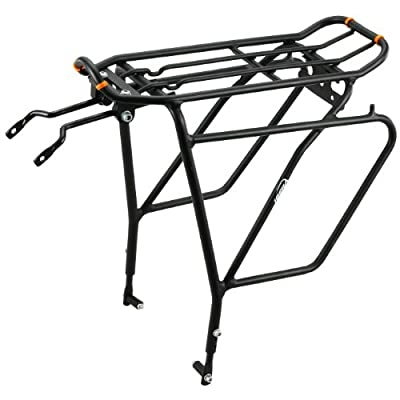 Ibera PakRak Bicycle Touring Carrier Plus+ Carrier Rack IB-RA5 (with Disc Brake Mounts) Frame-Mounted for Heavier Top & Side Loads Bike Cargo Racks