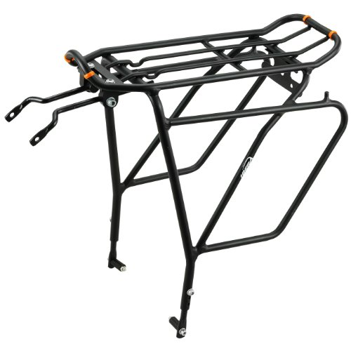 Ibera Bike Rack - Bicycle Touring Carrier Plus+ for Disc Brake Mount, Frame-Mounted for Heavier Top & Side Loads, Height Adjustable for 26'-29' Frames