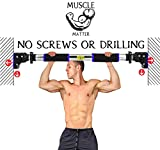 TLC Muscle Matter - Portable Pull Up Bar No Screws, No Installation For
