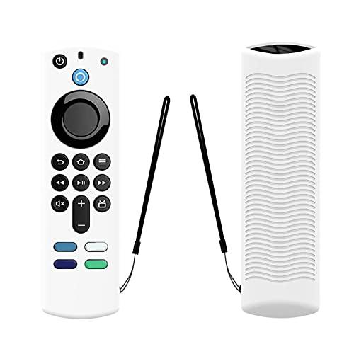 Schutzhülle für Alexa Sprachfernbedienung (3. Generation),Anti-Drop Weiche Silikonhülle Fire Stick TV mit Anti-Verlust-Gurt [Leicht/Stoßfest],2021